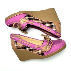 Sperry's | Women's Wedge Plaid Boat Shoe